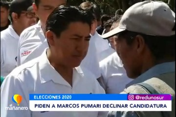PIDEN DECLINAR SU CANDIDATURA A MARCO PUMARI