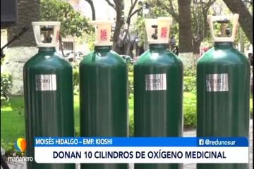 POSINOTICIA: DONAN 10 CILINDROS DE OXÍGENO MEDICINAL