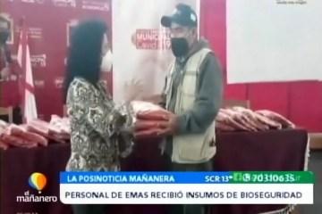 POSINOTICIA: PERSONAL DE EMAS RECIBIÓ INSUMOS DE BIOSEGURIDAD