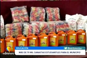 MÁS DE 70 MIL CANASTAS ESTUDIANTILES PARA EL MUNICIPIO