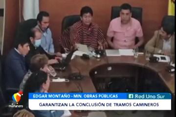 GARANTIZAN LA CONCLUSIÓN DE TRAMOS CAMINEROS