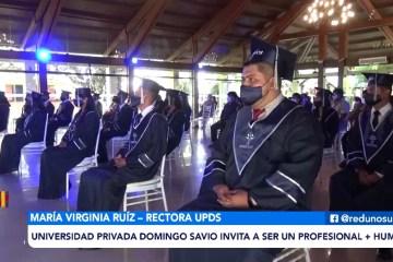 UPDS VIVIÓ UN ACTO DIFERENTE Y CON MEDIDAS DE BIOSEGURIDAD