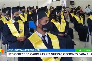 UCB REALIZÓ LA ENTREGA DE TÍTULOS CON TODAS LAS NORMAS DE BIOSEGURIDAD