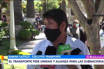 EL TRANSPORTE PIDE UNIDAD Y ALIANZA PARA LAS SUBNACIONALES