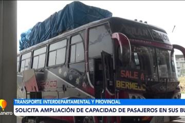 TRANSPORTE SOLICITA AMPLIACIÓN DE CAPACIDAD DE PASAJEROS EN SUS BUSES