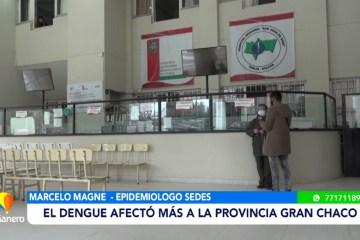 DENGUE AFECTÓ MÁS A LA PROVINCIA DE GRAN CHACO