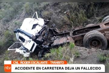 ACCIDENTE EN CARRETERA DEJA UN FALLECIDO