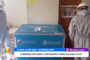 GOBERNACIÓN DARÁ CONTRAPARTE PARA LA COMPRA DE VACUNAS
