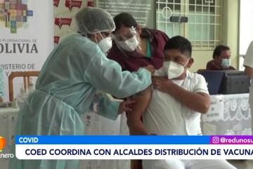 COED COORDINA CON ALCALDES LA DISTRIBUCIÓN DE VACUNAS