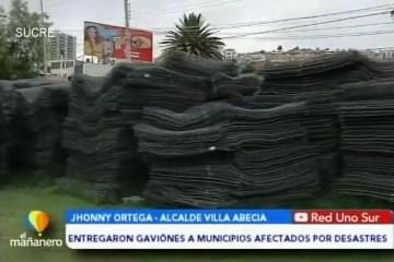 POSINOTICIA: ENTREGARON GAVIONES A MUNICIPIOS AFECTADOS POR LOS DESASTRES