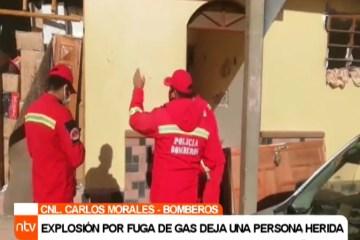 EXPLOSIÓN POR FUGA DE GAS DEJA UNA PERSONA HERIDA