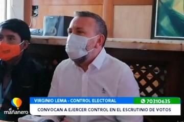 CONVOCAN A EJERCER CONTROL EN EL ESCRUTINIO DE VOTOS
