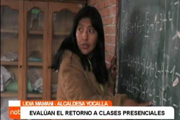 EVALÚAN EL RETORNO A CLASES PRESENCIALES