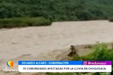 75 COMUNIDADES AFECTADAS POR LA LLUVIA EN EL DEPARTAMENTO
