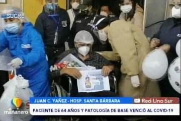 POSINOTICIA: PACIENTE DE 64 AÑOS Y PATOLOGÍA DE BASE VENCIÓ AL COVID