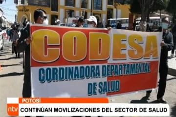 CONTINÚAN LAS MOVILIZACIONES DEL SECTOR DE SALUD