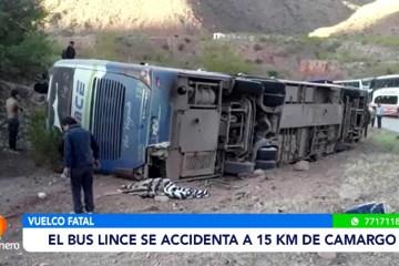 OCHO FALLECIDOS EN ACCIDENTE DE BUS