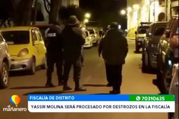 YASSIR MOLINA SERÁ PROCESADO POR DESTROZOS EN LA FISCALÍA