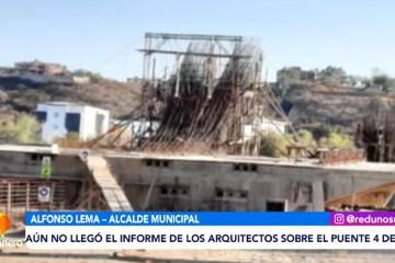AÚN NO LLEGÓ EL INFORME DE LOS ARQUITECTOS SOBRE EL PUENTE 4 DE JULIO