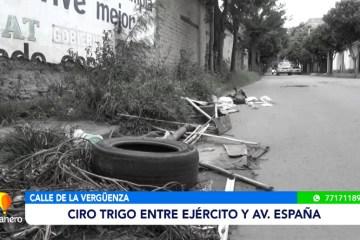 CALLE DE LA VERGÜENZA: CIRO TRIGO ENTRE EJÉRCITO Y AV ESPAÑA