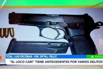 """FELCC APREHENDIÓ A EL """"LOCO CARI"""" EN POSESIÓN DE UN ARMA"""