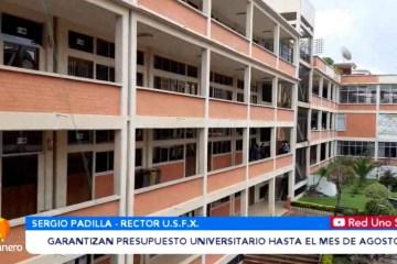GARANTIZAN PRESUPUESTO UNIVERSITARIO HASTA EL MES DE AGOSTO