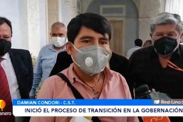 INICIÓ EL PROCESO DE TRANSICIÓN EN LA GOBERNACIÓN