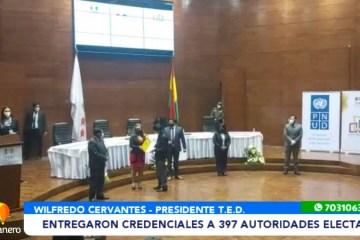 ENTREGARON CREDENCIALES A 397 AUTORIDADES ELECTAS