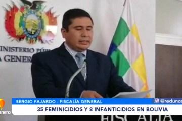 35 FEMINICIDIOS Y 8 INFANTICIDIOS EN BOLIVIA HASTA LA FECHA