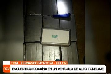 ENCUENTRAN COCAÍNA EN UN VEHÍCULO DE ALTO TONELAJE