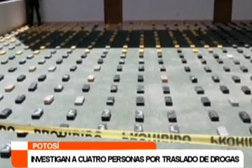 INVESTIGAN A CUATRO PERSONAS POR TRASLADO DE DROGAS