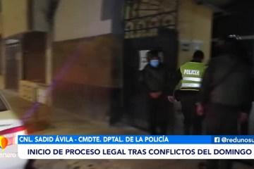 INICIO DE PROCESOS LEGALES TRAS EL CONFLICTO DEL DOMINGO