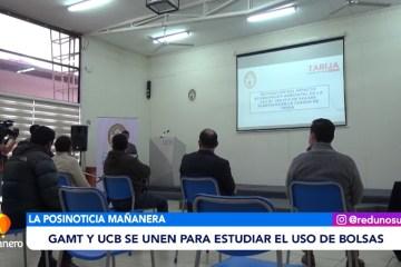 POSINOTICIA: GAMT Y UCB SE UNEN PARA ESTUDIAR EL USO DE BOLSAS PLÁSTICAS