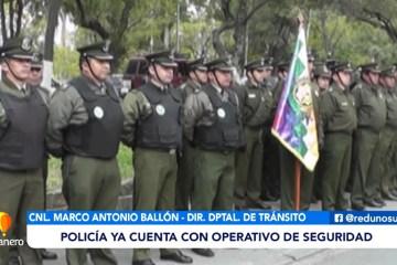 POLICÍA YA CUENTA CON OPERATIVO DE SEGURIDAD PARA SEGUNDA VUELTA