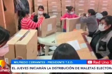 EL JUEVES INICIARÁN LA DISTRIBUCIÓN DE MALETAS ELECTORALES