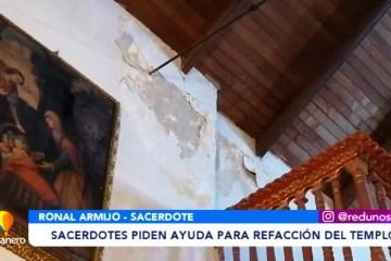 SACERDOTES PIDEN AYUDA LA REFACCIÓN DE LA CAPILLA DE SAN SEBASTIÁN