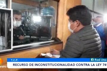 PRESENTARON RECURSO DE INCONSTITUCIONALIDAD CONTRA LA LEY 741