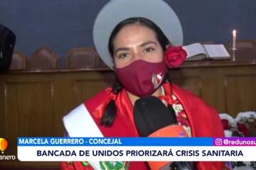BANCADA DE UNIDOS PRIORIZARÁ LA CRISIS SANITARIA