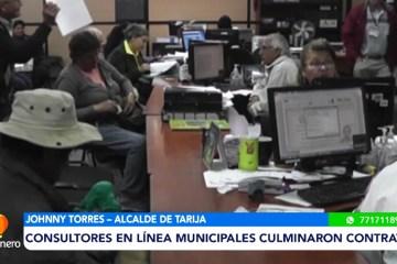 CONSULTORES EN LÍNEA MUNICIPALES CULMINARON CONTRATOS