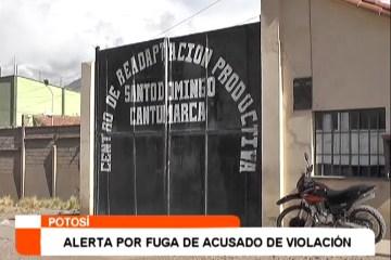 ALERTA POR FUGA DE ACUSADO DE VIOLACIÓN