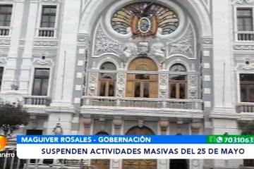 SUSPENDEN ACTIVIDADES MASIVAS DEL 25 DE MAYO