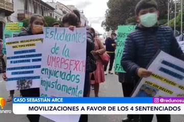 MOVILIZACIONES A FAVOR DE LOS CUATRO SENTENCIADOS EN EL CASO SEBASTIÁN