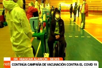 CONTINÚA CAMPAÑA DE VACUNACION CONTRA EL COVID 19