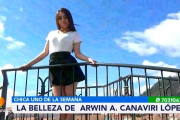 CHICA UNO DE LA SEMANA: ARWIN CANAVIRI LÓPEZ