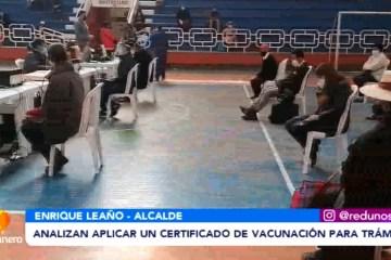 ANALIZAN APLICAR UN CERTIFICADO DE VACUNACIÓN PARA REALIZAR TRÁMITES