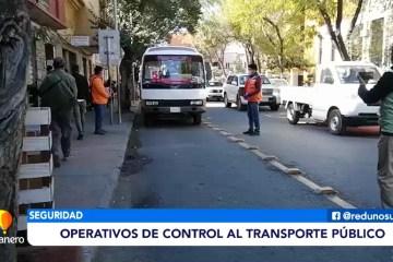 OPERATIVOS DE CONTROL AL TRANSPORTE PÚBLICO