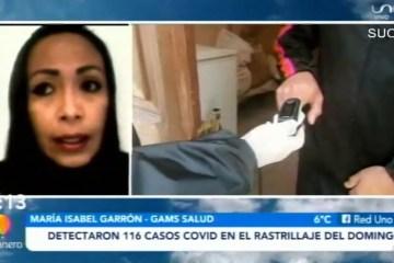 DETECTARON 116 CASOS COVID EN EL RASTRILLAJE DEL DOMINGO
