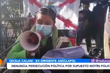 DENUNCIA PERSECUCIÓN POLÍTICA POR SUPUESTO MOTÍN POLICIAL