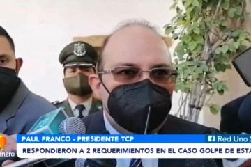 RESPONDIERON A DOS REQUERIMIENTOS EN EL CASO GOLPE DE ESTADO