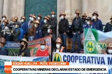 COOPERATIVAS MINERAS DECLARAN ESTADO DE EMERGENCIA